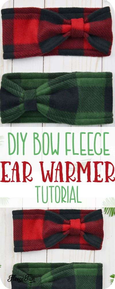 Fleece Ear Warmer Headband DIY Bow Style