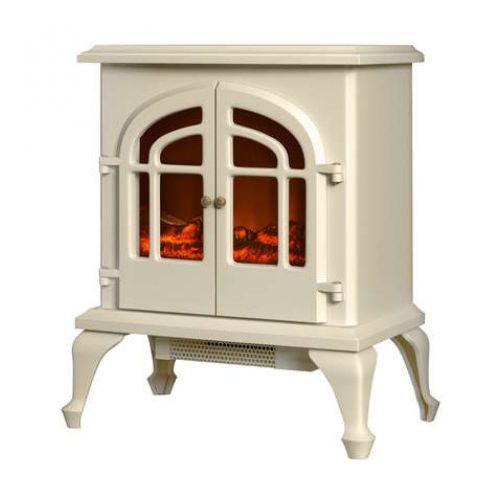 Warmlite Cream Electric Wood Burning Stove 2kw A