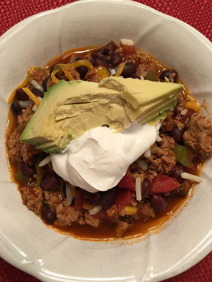 Black Bean Turkey Chili | yummy stuff | Pinterest | Black beans, Chili ...