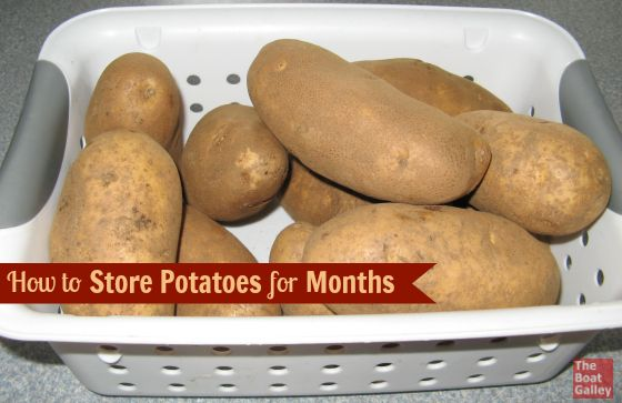 "How to store potatoes for the longest life! Six simple ""rules"" to keep them for months."