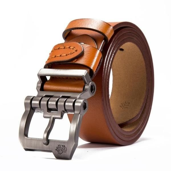 Mens Genuine Leather Belt for Dress /& Jeans Brown 125cm BISON DENIM Classic Belts For Men