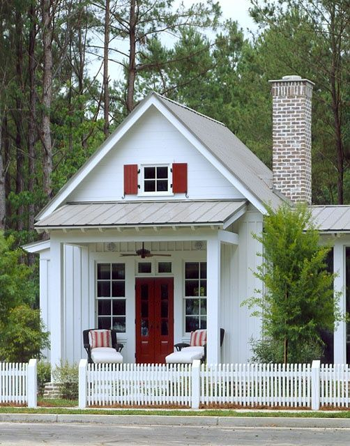 35 best small porch images on pinterest front doors for Home plans with attached guest house