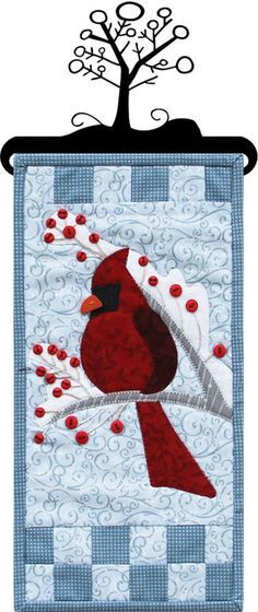 This is the January design of the Monthly Mini Series 8. Our new pattern format including complete quilting and binding instructions makes these PERFECT one-day projects for any skill level. Don't forget the matching buttons hanger or stand with header
