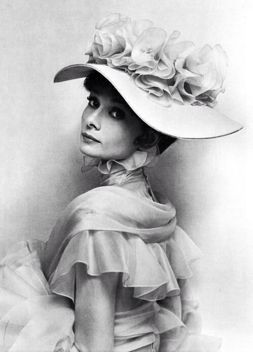 """34d34848e3e6f9 Audrey Hepburn in a promotional shot for """"My Fair Lady"""" in 1963 by Cecil  Beaton."""