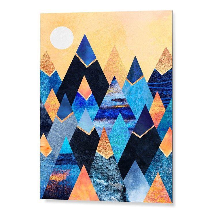 """""""Blue Mountains"""".Tableau Design Numéroté by @efredriksso1458   - A partir de 29 € - www.chall.fr - #decorationinterieur #Artprint #inspiration #idéedeco #geometric #summer"""