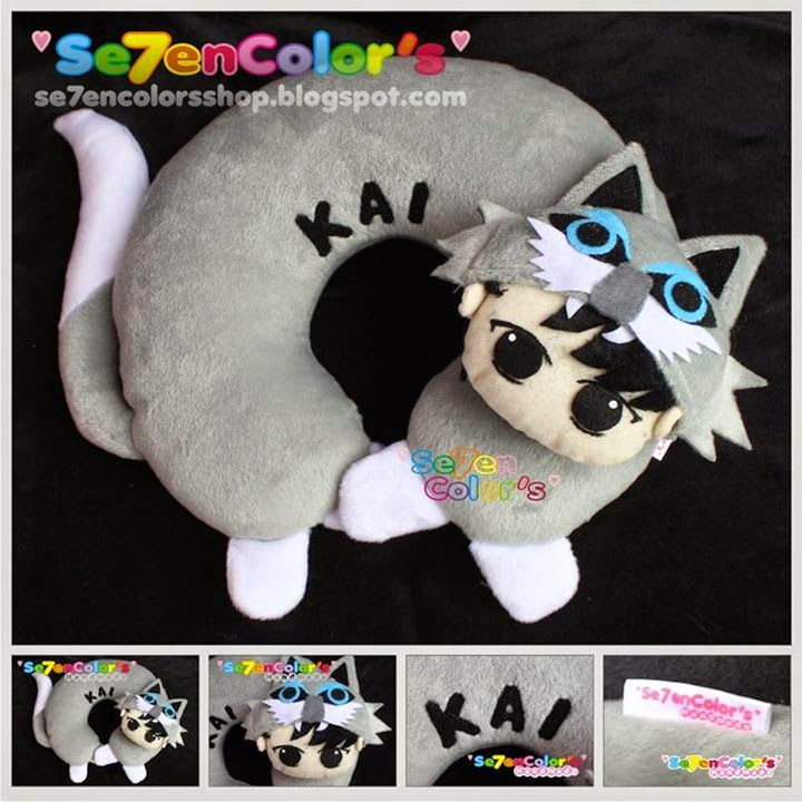 KAI of EXO Neck Pillow - Wolf Ver.