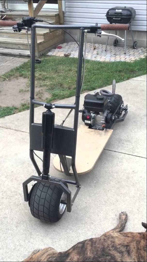 Custom Gas Powered Scooter 212cc walk around