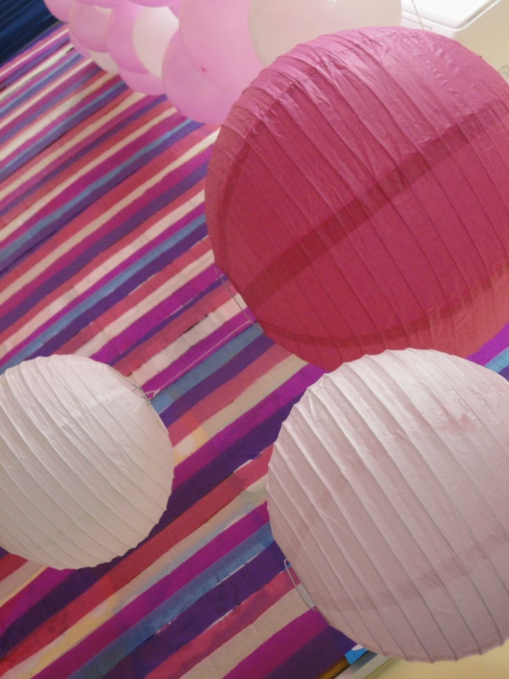 Lanterns make a good decoration if you have them. They also go with the colour theme (pink), and are quite effective
