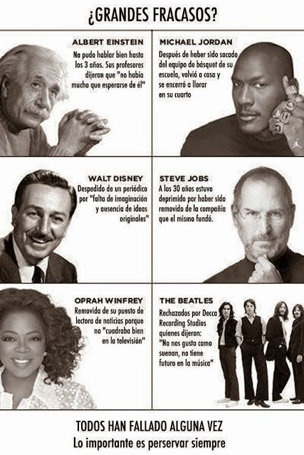 Todos hemos fallado alguna vez, pero lo mas importante es PERSEVERAR hasta alcanzar nuestros sueños.