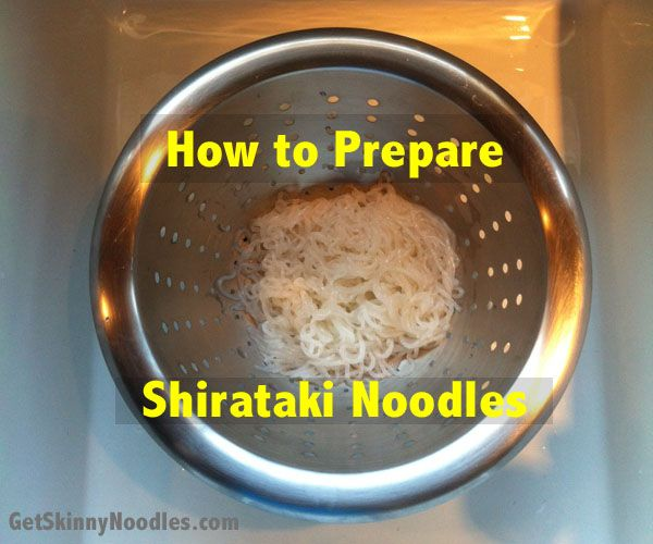 How to prepare shirataki noodles.  These are a great 'pasta' substitute.  They are 100% grain-free since they are from an Asian plant root.