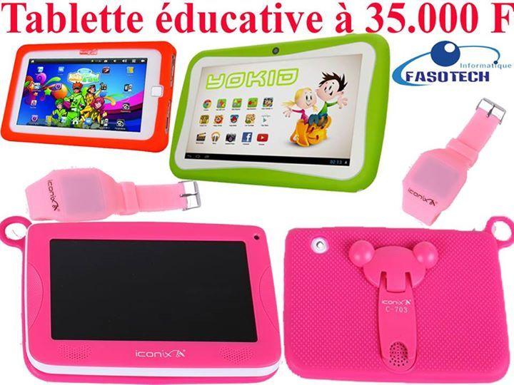 #Tablette_éducative pour enfants à #35000FCFA  #Tel: 73737354 / 68686819 / 77777720  Offrez la possibilité à vos #enfants d'apprendre tout en s'amusant. Plus d'une dizaine d'applications de Calcul, de conjugaison, d'orthographe, de grammaire, de dessin ainsi que des jeux de réflexion installé et d'autres jeux disponibles. #Couleurs: Bleu, vert, rose, violet, rouge...  #Fiche_Technique: Ecran: 7 Pouce / Processeur: Dual Core 1.5GHZ / RAM: 512/ OTG: USB 2.0/ Mémoire: 8gb extensible/ WI-FI…