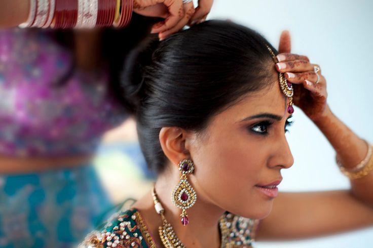Pretty East Indian modern bridal makeup by Vicki Lea