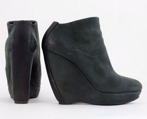 BALENCIAGA gray ankle boots with leather stingray size 36.5