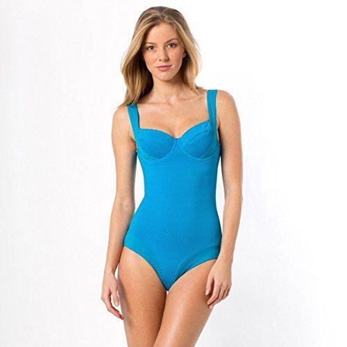 Anne Weyburn Donna Costume Da Bagno Effetto Ventre Piatto Taglia 42 Blu La Redoute http://ebay.to/1QypuRM