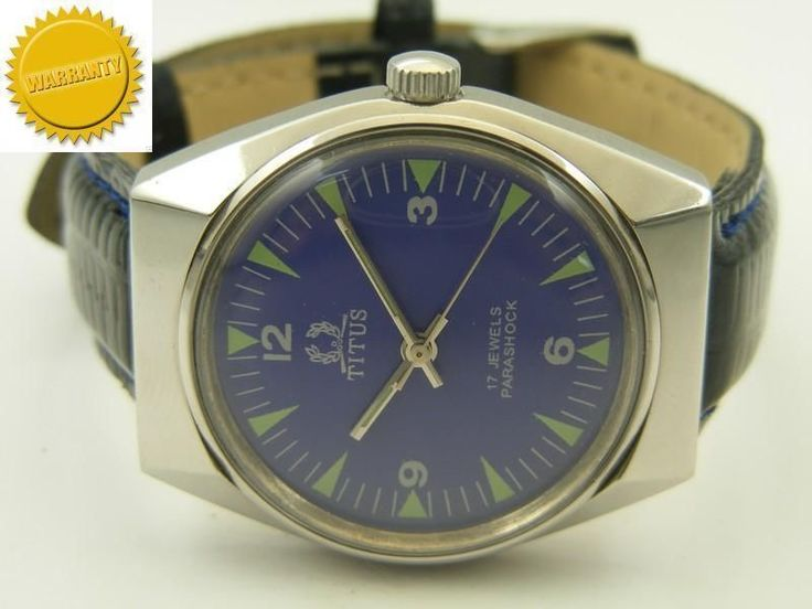 rare TITUS WINDING SWISS WATCH~IN EXCELLENT CONDITION~MUST SEE IT~ #Collectible