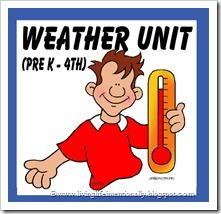 {FREE} Mega weather unit with worksheets, science projects, and more for kids PreK-4th grade - WOW
