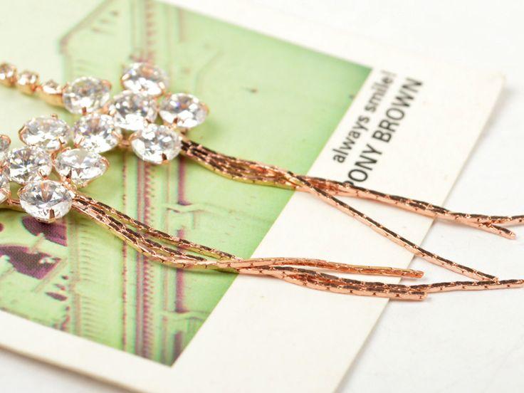 Αξεσουάρ Κορέα Κορέας Σκουλαρίκια Hao Shi Κρεμαστό κόσμημα Λουλούδια Λαμπρός Σκουλαρίκι