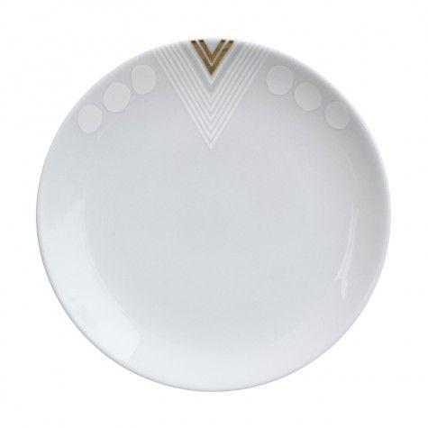 Alyson Fox White Noise Side Plates, Set of 4