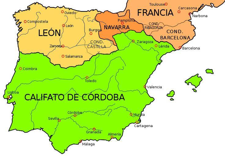 Map of the Iberian Peninsula in 1000