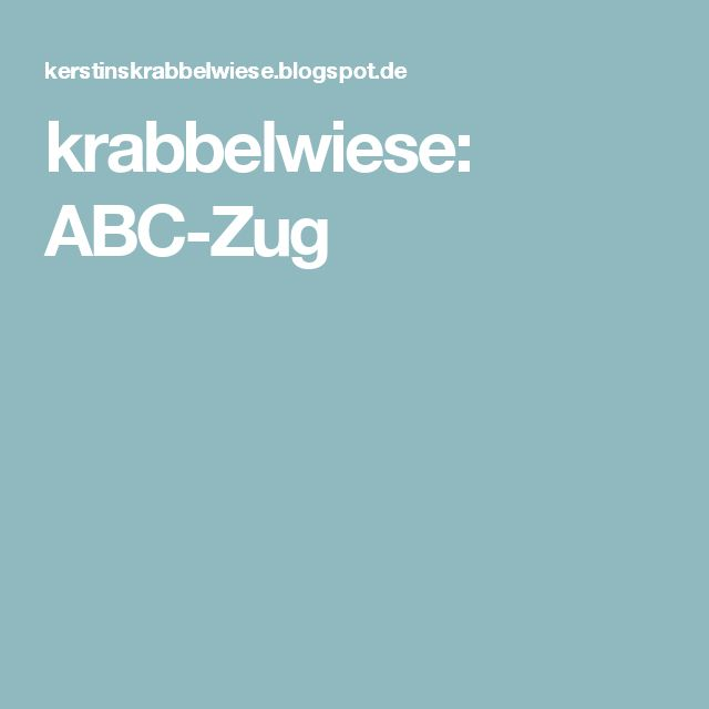 krabbelwiese abc zug deutsch. Black Bedroom Furniture Sets. Home Design Ideas