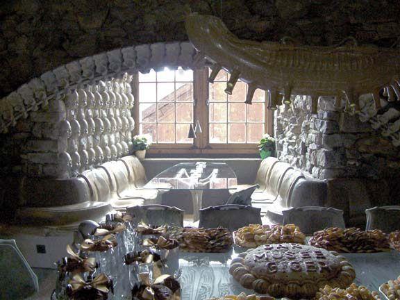 Welcome to the HR Giger bar located at the museum of the famous sci-fi artist in Gruyeres,