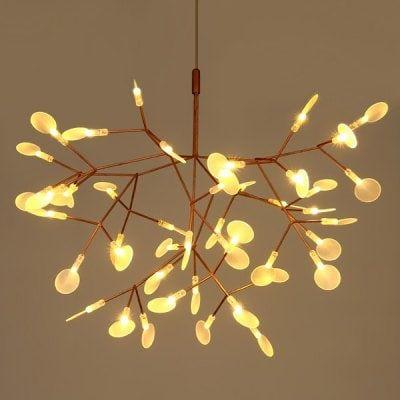 Art Creative Leaf Firefly LED Chandelier 220V | Gearbest Mobile