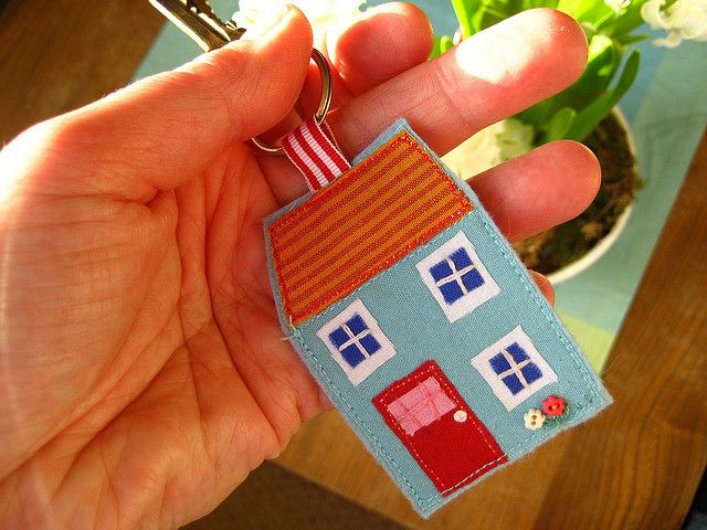 house keyring by Attic24