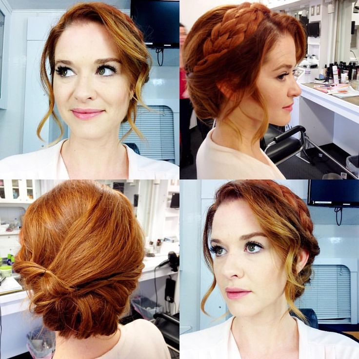 Love this wedding hair so much! Thank you @melanieshair and #SamWade for working your magic! #JaprilTheMovie #askjapril