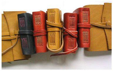 longstitch tutorial, plus economical leather