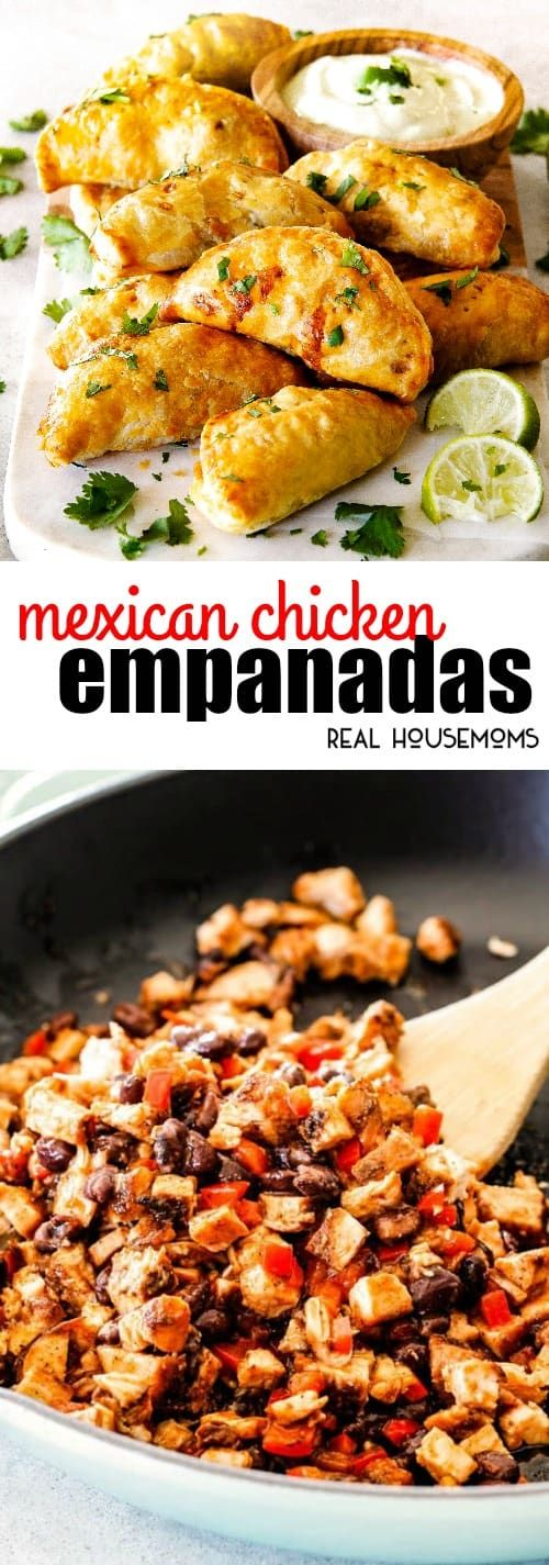 Mexican Chicken Empanadas are an irresistible appetizer, dinner, or snack that can be made ahead of time and frozen for later! via @realhousemoms