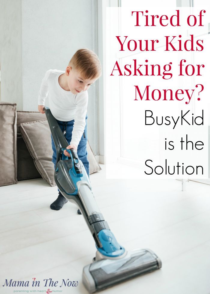 Are you tired of your kids asking for money? Teach them financial literacy, financial management and fiscal responsibility by setting up a chore system and allowance payment system through BusyKid. Parenting win. Set up chores your kids WILL do!  #Chores #Parenting #Financial