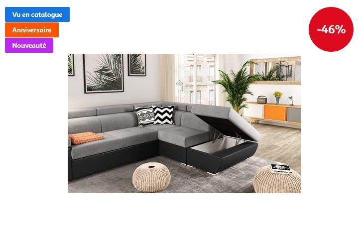 Canape D Angle Droit Convertible 4 A 5 Places Trend Pas Cher Canape Auchan Iziva Com Canape Angle Mobilier De Salon Angle Droit