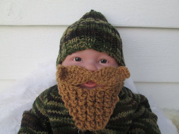 The long beard is my original design and 100% Handmade by me.  Darling!  Your baby will be a hit in this adorable handmade BEARDED HAT! The beard NO