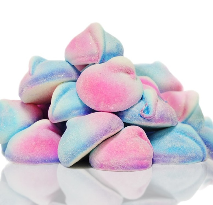 Fluffy Tahitian handmade marshmallows that melt in your mouth. Created using seasonal colors: yellow & green and blue & pink.