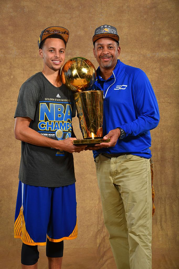 Stephen Curry passed his father Dell on the NBA's all-time made three-pointer list. Dell couldn't be happier about it.