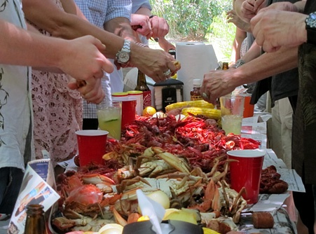Crawfish and Crab Boil in LouisianaGood Food, Crabs Boiled, Rehearsal Dinner, Community Food
