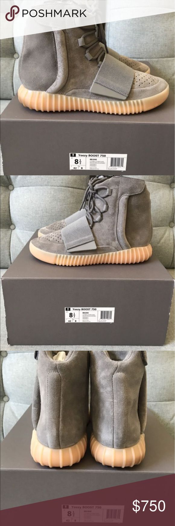 YEEZY BOOST 750 Grey Gum 100%Authentic, All Original Pictures, can contact me at (248) 694-7379 , TEXT OR CALL ME  REGARDING THE PRICE AND PAYMENT Follow me on instagram (@LakeSidekicksMI ) Yeezy Shoes Sneakers