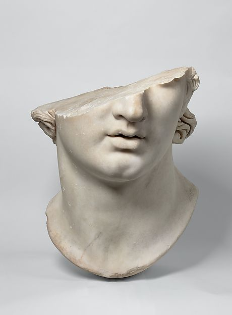 Fragmentary colossal head of a youth   Greek   Hellenistic   The Met