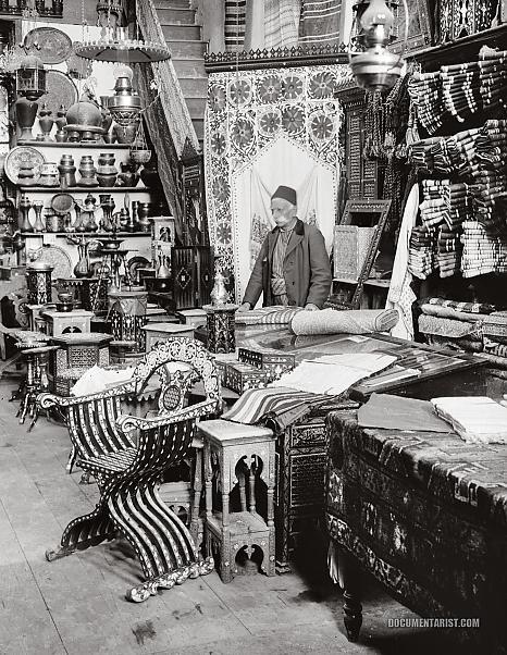 Shop of Damascus Wares (Şam esnafı) Syria 1900-1920
