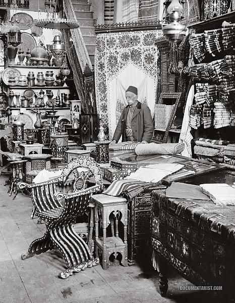 Shop of Damascus Wares (Şam esnafı) Syria 1900-1920