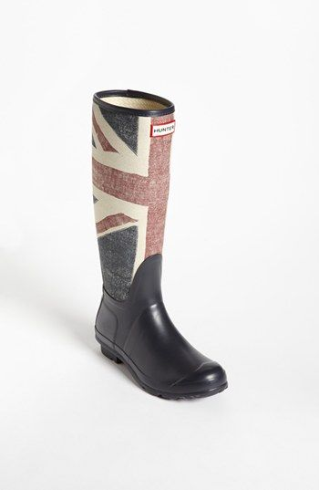I feel my bad English accent coming out whenever I wear these!  Hunter British Rain Boots!!!