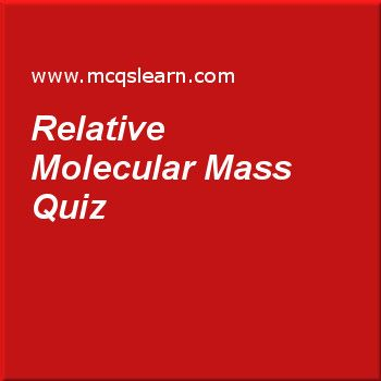 Relative Molecular Mass Quiz