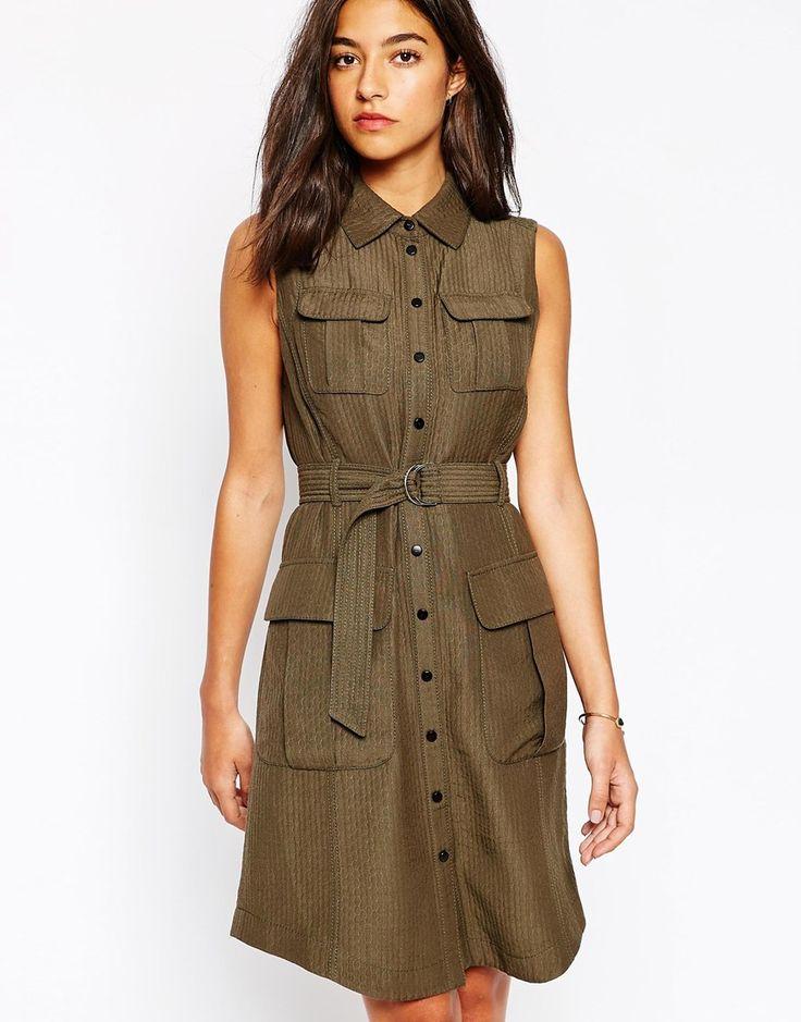 Image 1 ofKaren Millen Signature Safari Dress                                                                                                                                                                                 More
