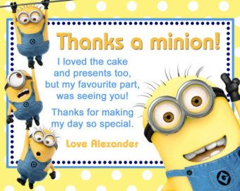 Customised Minion Birthday Invitation Printable by ArtworkByAnti
