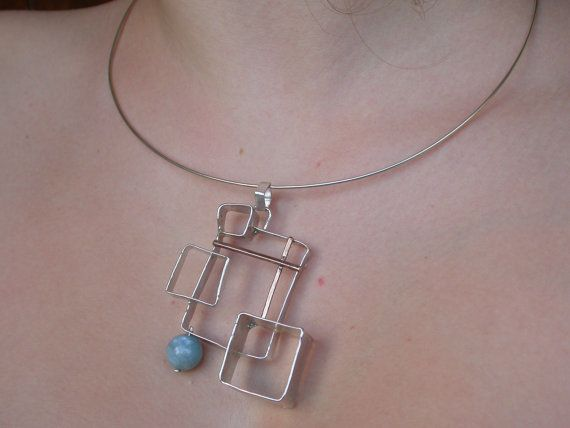 Pendant Freedom Square by giolelli on Etsy