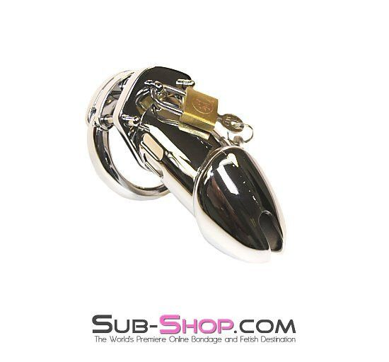 3791HS    Houdini XL Long Locking Steel Cock Chastity Cage Set Our Houdini XL Long Locking Steel Cock Chastity Cage Set is a longer version of our 3789HS Houdini Locking Steel Cock Chastity Cage Set with a little extra room for those well endowed male slaves! http://www.sub-shop.com/collections/steel-bondage/products/3791hs-houdini-xl-long-locking-steel-cock-chastity-cage-set