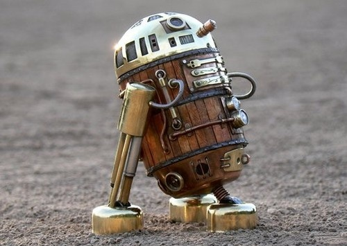 Steampunk R2D2. I totally dig this!
