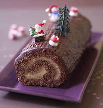 Buche de Noël chocolat vanille - les meilleures recettes de cuisine d'Ôdélices
