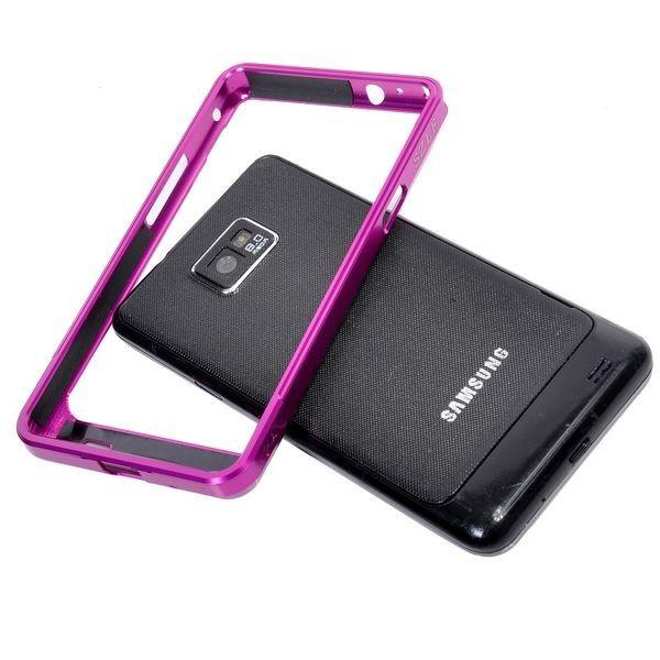 Samsung Galaxy S2 Alumiininen Suojakehys (Pinkki)
