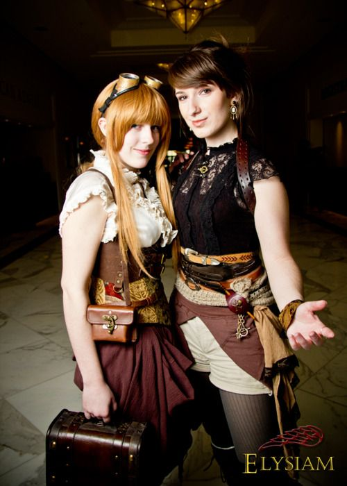 conventionallyunconventional:    http://brotneeroody.tumblr.com/on the left and myself on the right. Taken by Elysiam photography. :D  Katsucon 2012 - Lydia and Louise 1 by ~LadyduLac
